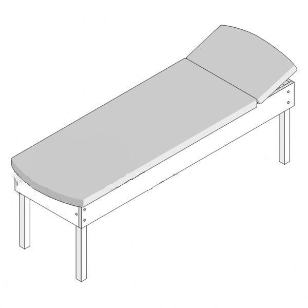 Кушетка физиотерапевтическая с регулруемым подголовником КФТ (1950х600х550)