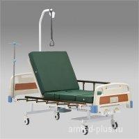 Кровать функциональная механическая с принадлежностями  RS104-Е (Регулировка головной и ножной секции ; с санитарным приспособлением )