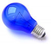 Лампа накаливания - синяя