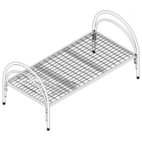 Кровать медицинская металлическая КМ-1