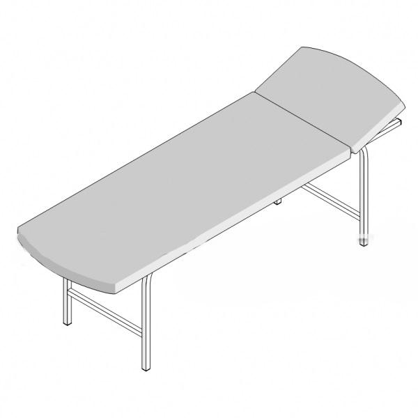 Кушетка смотровая 1-секционная с регулруемым подголовником КС/1 (1950х800х550)