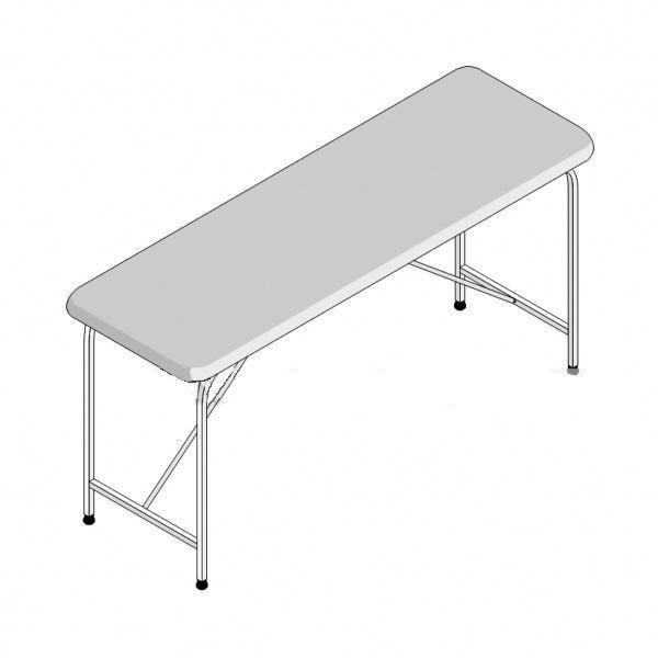 Стол массажный 1-секционный складной СМС-1/1 (1950х800х750)