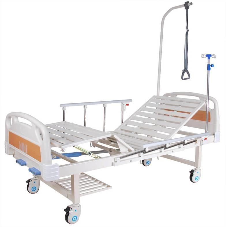 Кровать функциональная механическая Е-8 (ММ-20Н) с полкой и столиком