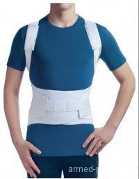 Бандаж фиксирующий грудопоясничный (2 ребра жесткости) 1402
