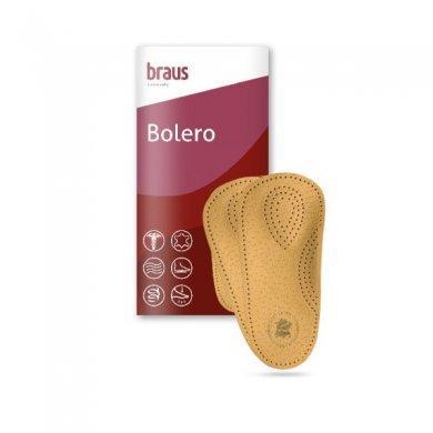 Стельки 2/3 Bolero ортопедические (овечья кожа с жестким супинатором)