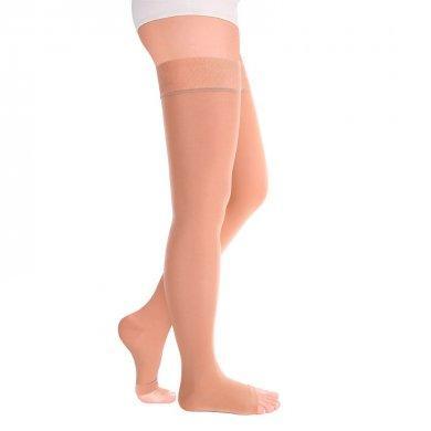 Чулки с открытым носком на широкое бедро 2кл. IDEALISTA ID-310W карамель