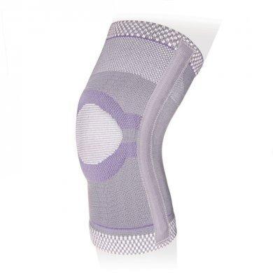 Бандаж на коленный сустав со спиральными ребрами и сиконовым кольцом ЭКОТЕН KS-E03