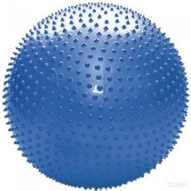 Мяч для фитнеса с шипами в коробке с насосом, L 0575b синий, 75см