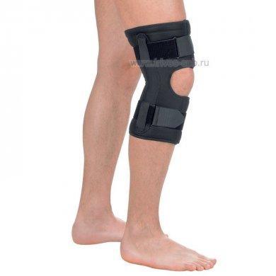 Бандаж на коленный сустав разъемный c полицентрическими шарнирами Т-8518