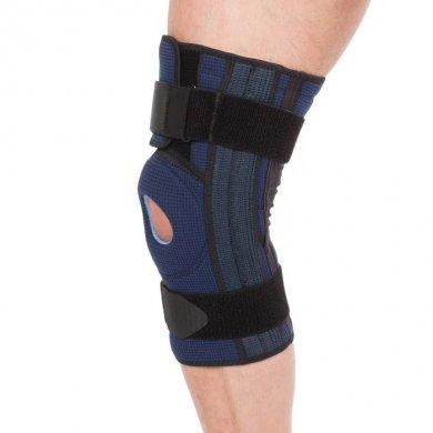 Бандаж на коленный сустав полуразъемный с пружинными ребрами Evolution Т-8592