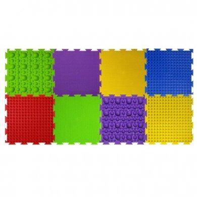 Модульный коврик Орто Набор № 3 ( камни, трава, шипы, волна)