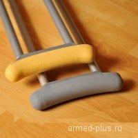 Накладка подмышечная для костыля желтая (1шт)